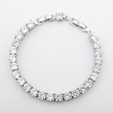 18K silver gold filled Swarovski crystal fashion chams wedding bracelet gift