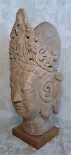 """Vintage Austin Productions Chinese Buddha Head Guanyin Statue Sculpture 1962 21"""""""