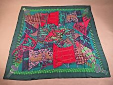 Vintage HERMES Etendards et Bonnieres SCARF 100% Silk Authentic