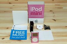 APPLE IPOD MINI 2ND GENERATION PINK 4GB + ORIGINAL BOX + ACCESSORIES COLLECTOR'S