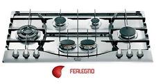 PIANO COTTURA 90CM INOX 6 FUOCHI COMANDI FRONTALI TRIPLA CORONA PH960MST ARISTON