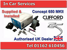 Clifford Concept 650 MkII Car Alarm Immobiliser Thatcham Cat 1 FITTED LEICESTER