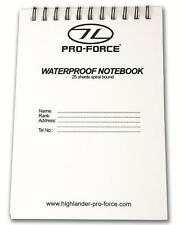 New 25 A6 Page Waterproof Notepad/Notebook refill 15X10.5cm CADETS FORCES SCOUTS