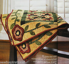 A TOUCH OF TUSCANY QUILT PATTERN 4 SIZES PATCHWORK APPLIQUE ITALY
