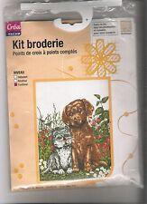 kit broderie point de croix chien et chat