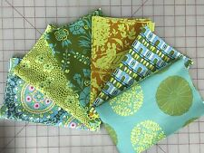 OOP Amy Butler Cameo Fabric Fat Quarter Bundle in Blues and Greens