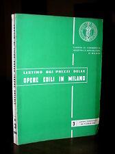 C642_LISTINO DEI PREZZI DELLE OPERE EDILI IN MILANO - Trimestrale 1° Luglio 1966