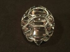 STEUBEN  CRYSTAL TURTLE PALM HAND COOLER WARMER PAPERWEIGHT