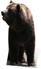 Grizzly Bear Lifesize Cardboard Cutout Fun Figure 165cm Tall - For your Party