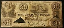 1839 $50 REPUBLIC OF TEXAS  BILL.