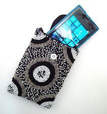KHARMIC HAND BEADED SMART PHONE HANDBAG SHOULDER BAG ~ BLACK & WHITE ~ NEW