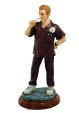 Vitals Male Nurse RN Scrubs Vanmark White Caps of Caring Collectible Figurine