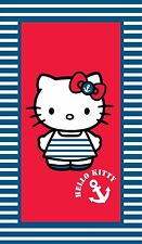 Kinder Badetuch Velouroptik 70 x 120 cm Hello Kitty marine neu