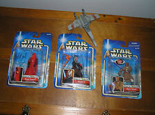 Lot of 3 STAR WARS Hasbro Mace Windu Shaak Ti Royal Guard Plastic Action Figures