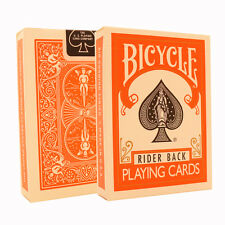 Orange Bicycle Cards - Orange Bicycle Deck - Rider Back USA Made - Poker Size