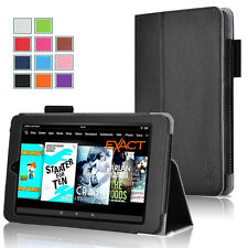 Exact PRO Slim-Fit PU Leather Folio Stand Case for Amazon Kindle Fire HD 10 2015