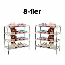 8 Tiers Metal Adjustable Shoes Shelf Rack Stand Organizer Storage Boot Holder