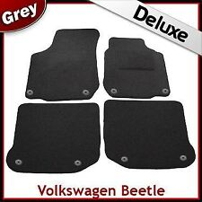 VW New Beetle 1998-2011 Round Eyelets Tailored LUXURY 1300g Carpet Car Mats GREY