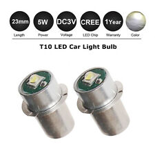 2X CREE Flashlights Bulb P13.5S DC3V 5W 180LM LED Replace for Torch Bright White