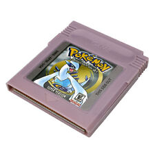Pokemon GBC Silver Version Game Card Game Boy Advance GBA GB SP GBM Game Console