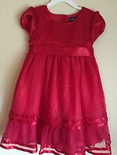 NWT Girls Red Satin Lace overlay Christmas Holiday Dress Size 6 winter by Chaps