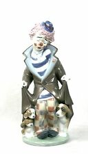 Lladro Clown Surprise With Puppies Dogs Figurine Ornament 5901