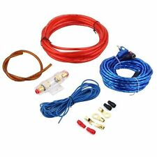 800W 8GA Car Audio Subwoofer Amplifier AMP Wiring Fuse Holder Wire Cable Kit FM