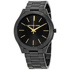 Michael Kors Slim Runway Black Ion-plated Unisex Watch MK3221