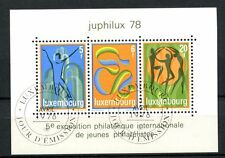 Luxembourg 1978 SG#MS1003 Junior, Philatelic Exhibition Cto Used M/S #A34879