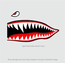 "Flying Tigers shark teeth decal sticker 6.75"" t x 16"" w WWII Military Airplane"