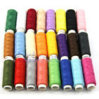 New 24 Mixed Colors Spools Polyester All Purpose Sewing Threads Cones Set Hot