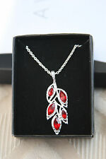 Delphine Gala Necklace ~Red~ by Avon
