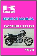 KAWASAKI Workshop Manual KZ1000 KZ1000LTD Z1000 LTD MkII 1979 B3 Service Repair