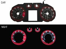 2011-15 Chevy Cruze V2 Racing Red Glow Gauge Face Overlay for instrument cluster