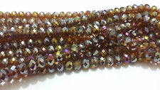 30-35 Faceted Rondelle Crystal Glass Beads CHOOSE FROM 41 COLOURS 8 10mm, 12mm