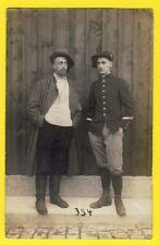 cpa Carte Photo MÜNSINGEN MILITAIRES SOLDATS PRISONNIERS 252 sur col SUWALKI
