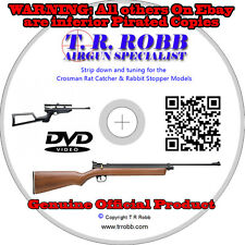 Crosman Ratcatcher & Rabbit Stopper Tuning & Dismantling DVD by T.R.Robb GENUINE