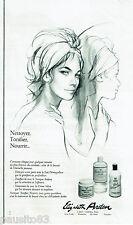PUBLICITE ADVERTISING 115  1964  ELISABETH ARDEN    lait démaquillant tonique