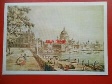 POSTCARD ST PAULS CATHEDRAL FROM THE EMBANKMENT - WILLIAM JAMES