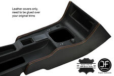 ORANGE STITCH 2X CONSOLE SIDE TRIM LEATHER COVERS FITS FIAT COUPE 1994-2000