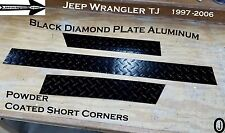 Jeep TJ Wrangler 3 1/2 Tall Diamond Plate SHORT CORNER 1997- 2006 Powder Coated