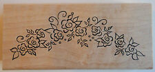Rose Arch Rubber Stamp - Wood Mounted