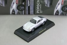 Porsche 911R Silver 1/64 Kyosho Minicar Collection Japan Limited 2009