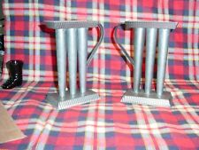 "2 - 3 Tube 6"" Tin Candle Holder and   Candle Molds"