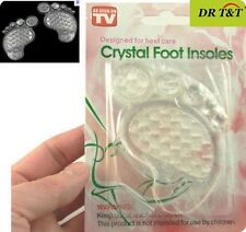 Massage Silicone Crystal Foot Insoles for High-heeled Shoes As Seen On TV