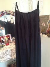BLACK MAXI CAFTAN KAFTAN  DRESS SOFT RAYON CASUAL RELAX COMFY SIZE 12-18