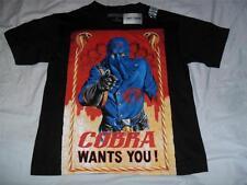 COBRA WANTS YOU! Black T-Shirt Adult XS Commander GI Joe New with Tags Hot Topic