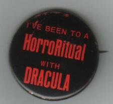 RARE HAMMER HORROR DRACULA A.D. 1972 U.S. PROMO BUTTON BADGE CHRISTOPHER LEE
