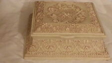"""Very Rare INCOLAY Large Jewelry Box - """"CHERUBS OF THE HARVEST"""""""