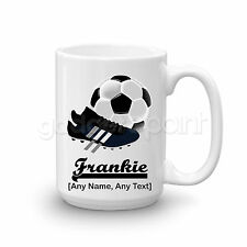 Personalised Gift Football Mug Cup Large 15oz Boots Sport Referee Training Coach